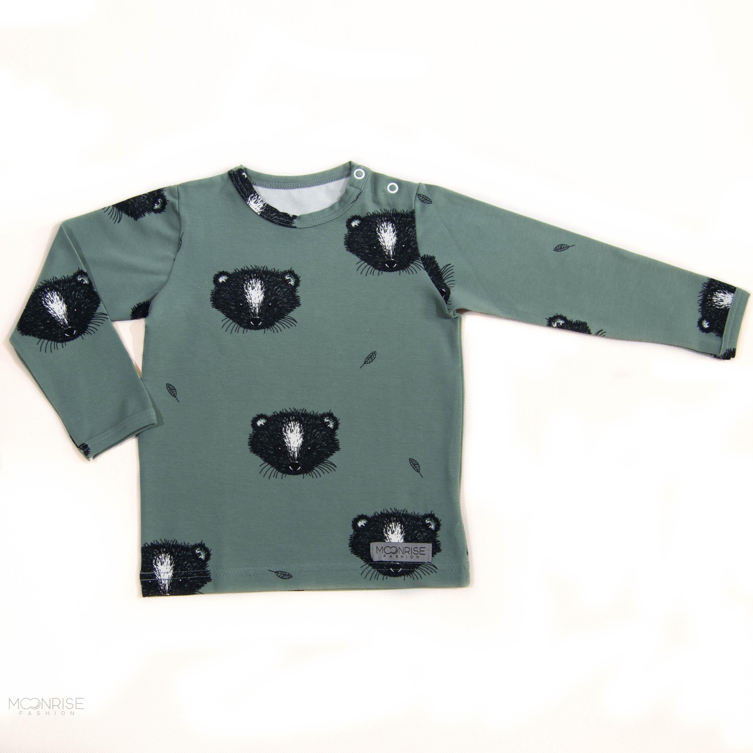 85999c05ff BIO tričko Little animal zelené dlhý rukáv