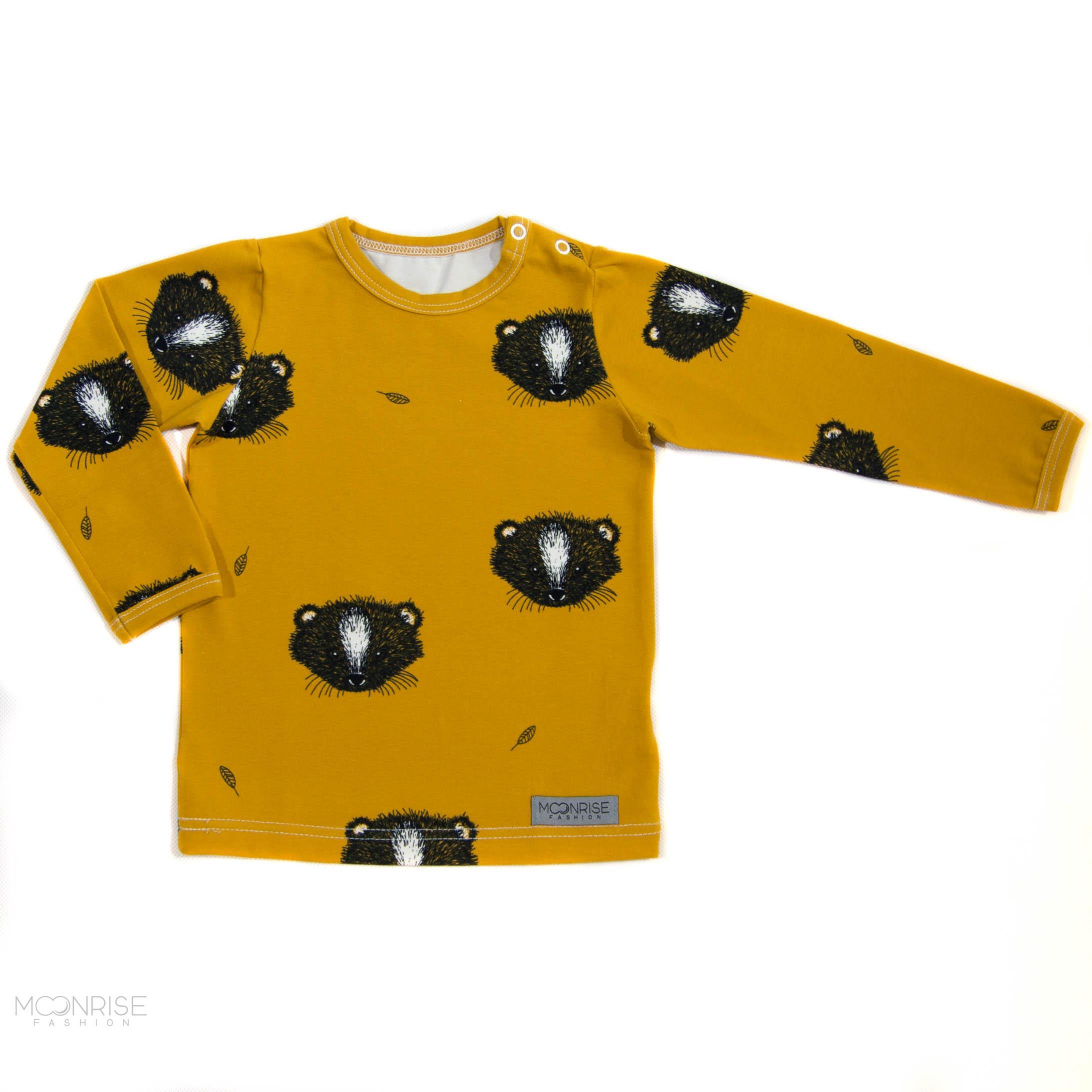 dde5901efe BIO tričko Little animal horčicové dlhý rukáv