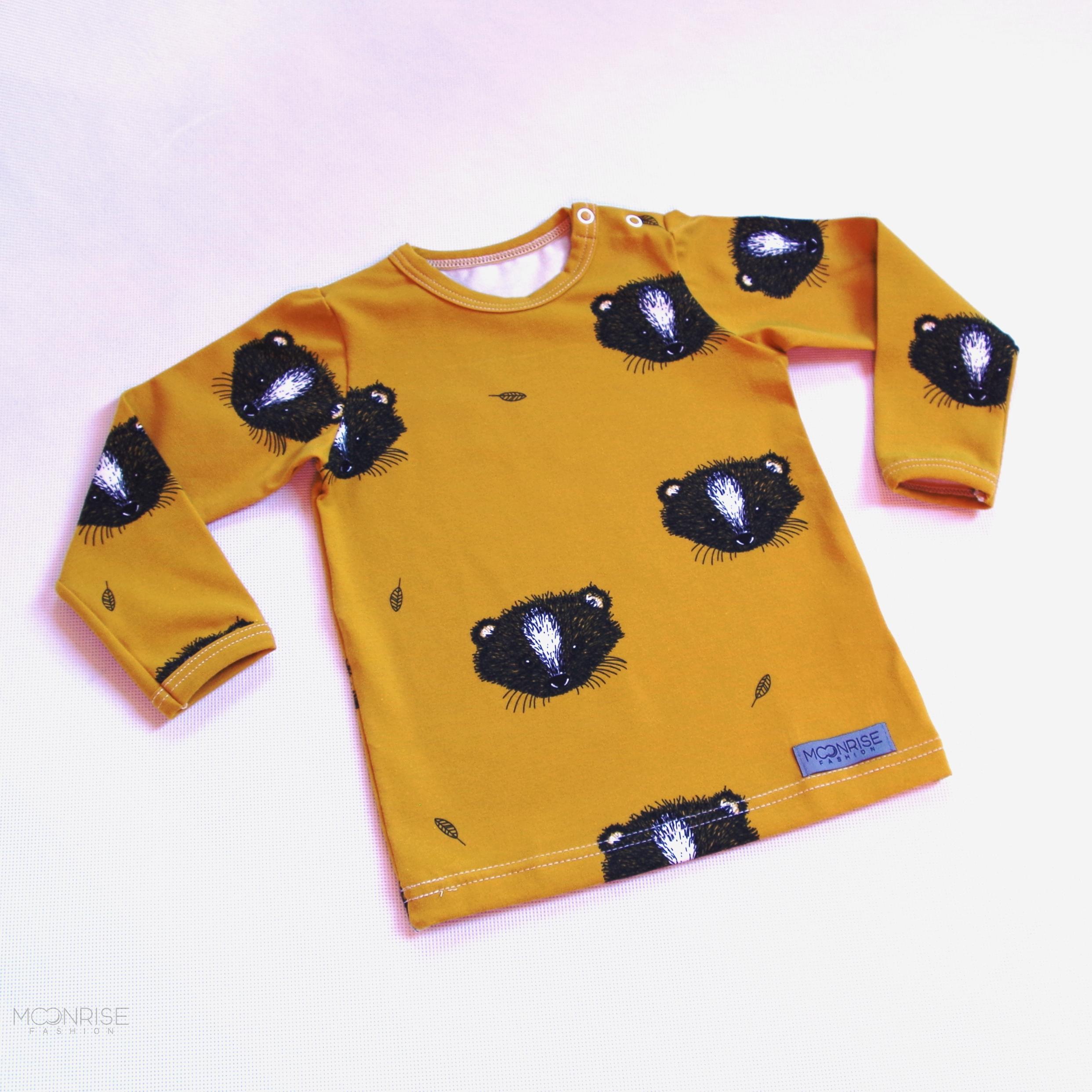 bf8abe0f01 BIO tričko Little animal horčicové
