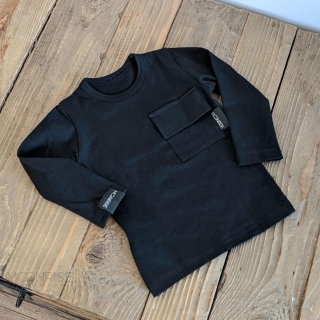 Tričko organic - pocket black